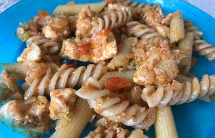 תבשיל מודולרי – עוף פסטה ועדשים