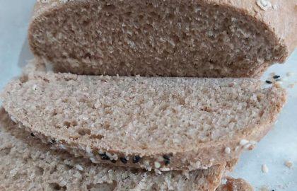 לחם קמחים מלאים (טבעוני)