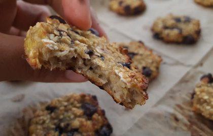 עוגיות קוואקר בננה שוקולד ציפס